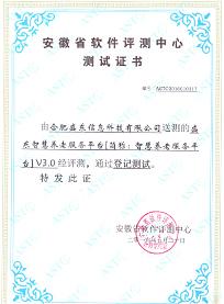 盛东信息智慧qy866千亿国际服务平台V3.0测试证书